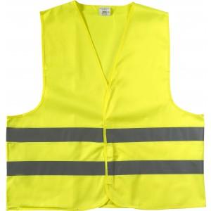 Fényvisszaverő biztonsági mellény, sárga, M